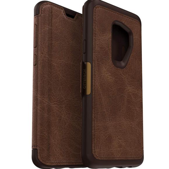 quality design 94391 8a399 Premium leather SAMSUNG GALAXY S9 OTTERBOX CASE NWT